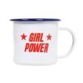 Girl Power Emaille Tasse