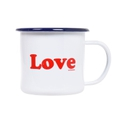 Love Emaille Tasse