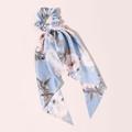 Seidenband Scrunchie Lightblue Roses