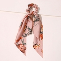 Seidenband Scrunchie Altrosa Flowers