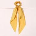 Seidenband Scrunchie Gelb
